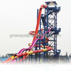 Indoor Tunggal Water Park Peralatan Games / Air Dengan Big Water Slide Keselamatan