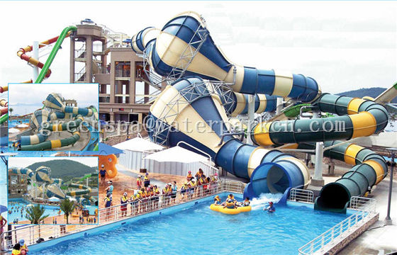 Fiberglass Komersial Playground Equipment Panjang Lucu Untuk Aqua Fun Park