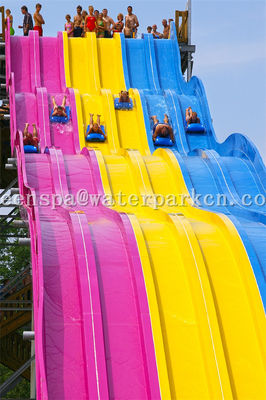 Aqua Park Spiral Slide Water Park Equipment / Water Game Lucu Untuk Dewasa