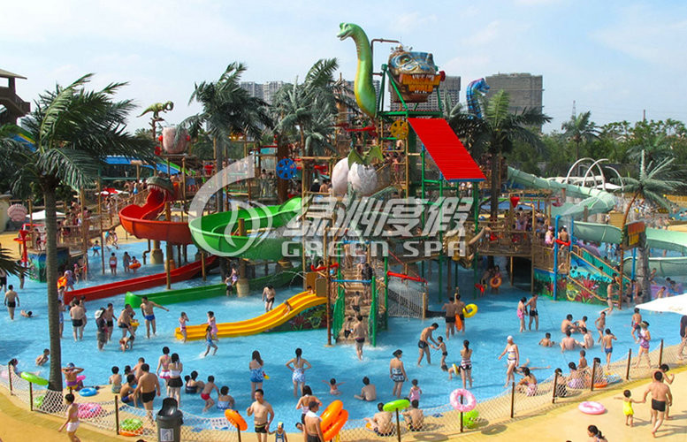 Parent-child Theme Big Aqua Playground Fiberglass Water House for Amusement Park Equipment