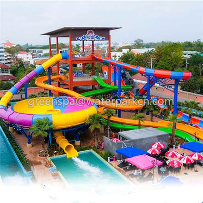 Cina Galvanis Pipa Water Park Equipment / Amusement Park Equipment Fiberglass pabrik