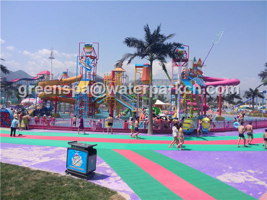 Disesuaikan Ukuran Aqua Park Kustom Water Slides Untuk Air Amusement Park Equipment